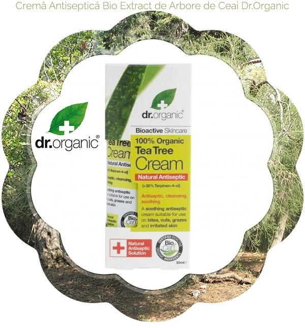 1 Crema Antiseptică Bio Extract de Arbore de Ceai Dr.Organic