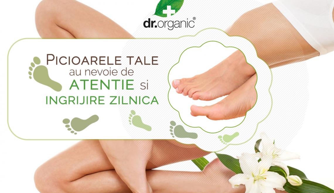 Îngrijește-ți picioarele cu produsele speciale marca Dr.Organic