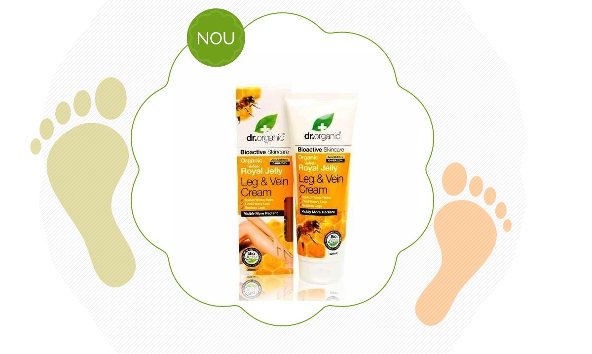 Crema de picioare și vene Bio Lăptișor de Matcă Dr.Organic