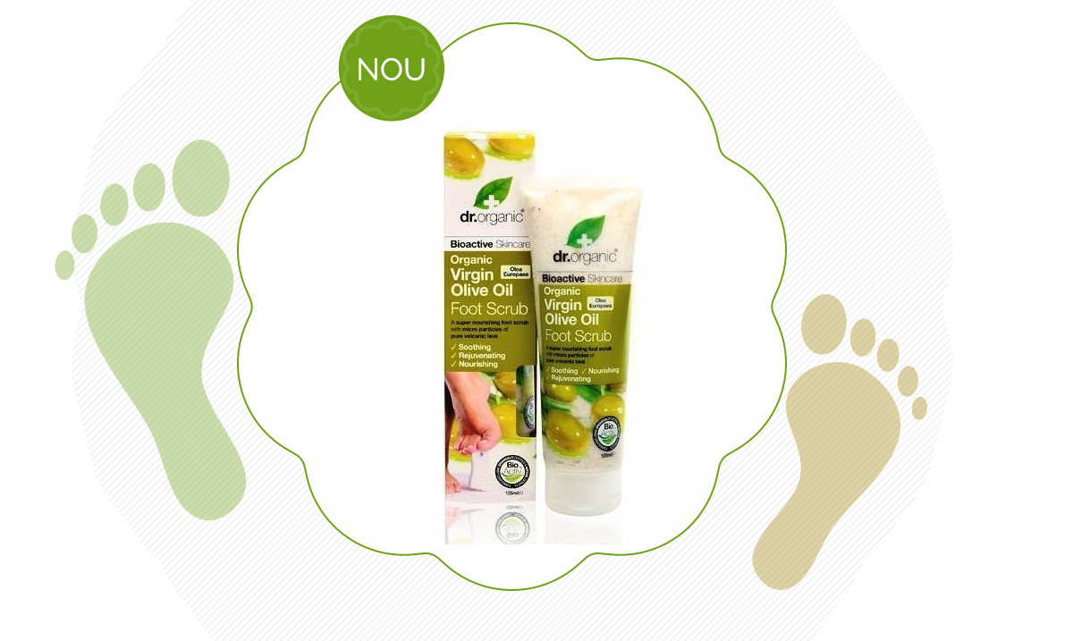 Exfoliant picioare Bio Ulei Masline Dr.Organic