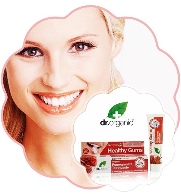 Pasta de dinți bio Rodie Dr. Organic 100ml Fiind creată dintr-un extract bioactiv din rodie pură, pasta de dinți este o combinație între efectul antioxidant și regenerarea gingiilor. La finalul periajului, vei simți o puternică senzație de curat, mentol și prospețime.
