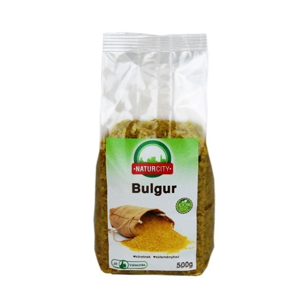 Bulgur Naturcity 500g Bulgurul este un aliment hrănitor și bogat în fibre, proteine, fier și vitamina B6. Este un amestec din boabe de grâu măcinate și constituie o resursă interminabilă de carbohidrați și fibre solubile. Ideal pentru slăbit și buna funcționare a creierului și a nervilor.