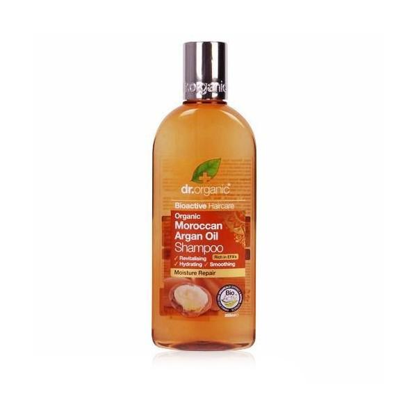 Sampon Bio Argan Dr.Organic 265ml Șamponul Bio Argan Dr.Organic regenerează firul de păr și hidratează pielea capului. Având în compoziția sa și extract de Aloe Vera, pulpă de portocală, ulei de cuișoare și ulei de mentă sălbatică, revitalizează părul, oferindu-i culoarea, strălucirea și hidratarea naturală.