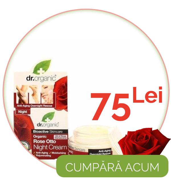 Crema de noapte Bio Trandafiri Dr.Organic 50ml