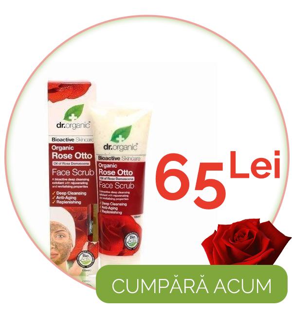 Exfoliant fata Bio Trandafiri Dr.Organic 125ml